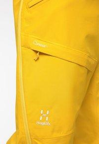 Haglöfs - LUMI LOOSE PANT - Snow pants - pumpkin yellow - 5