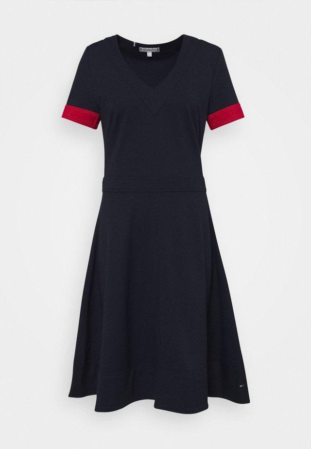 FIT&FLARE PUNTO DRESS - Jersey dress - desert sky