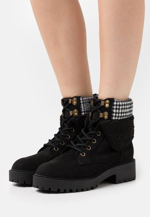 CHILLED - Lace-up ankle boots - black