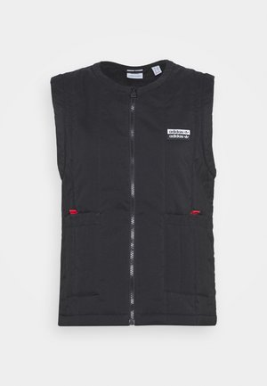 SPORTS INSPIRED REGULAR VEST - Waistcoat - black