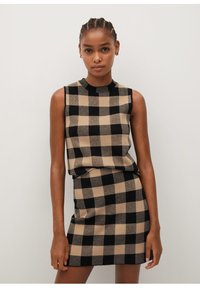 Mango - SCARLATA - A-line skirt - marron moyen - 1