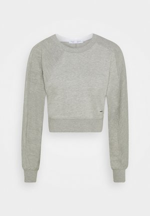 LONG SLEEVE  - Sweatshirt - grey melange/white