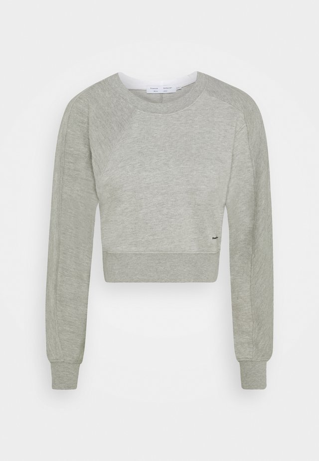 LONG SLEEVE  - Mikina - grey melange/white