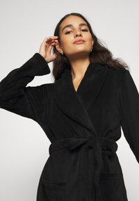 Anna Field - LADIES PLUSH BATHROBE  - Badjas - black - 4