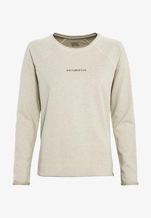 MIT PLATZIERTEM PRINT - Sweatshirt - beige