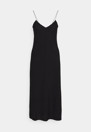 VALERIE LONG SLIP - Robe d'été - black