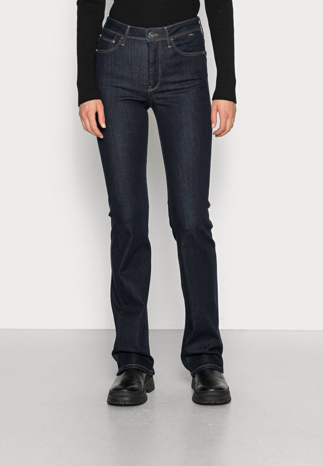MARIA - Bootcut jeans - rinse