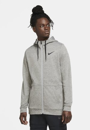 THRMA  - veste en sweat zippée - dark grey heather/black