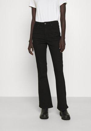FIONA THINKTWICE - Široké džíny - denim black