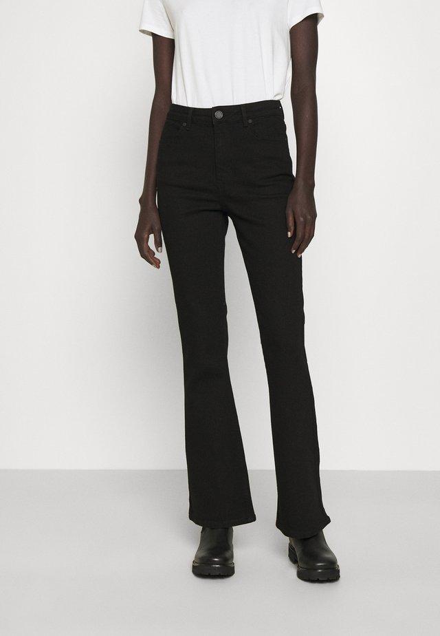 FIONA THINKTWICE - Flared Jeans - denim black