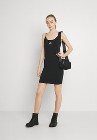Alpha Industries - BASIC DRESS SMALL LOGO - Jersey dress - black - 1