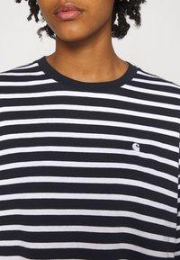 Carhartt WIP - ROBIE  - Long sleeved top - dark navy/white - 4
