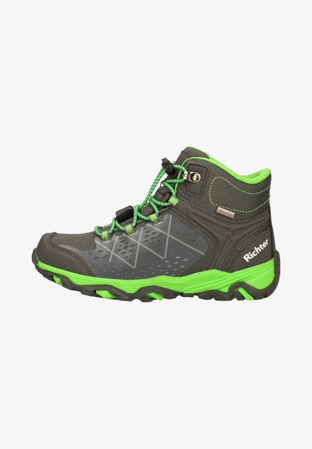 Lace-up ankle boots - vulcano/green
