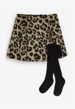 KILT WITH TIGHTS SET - Mini skirt - black