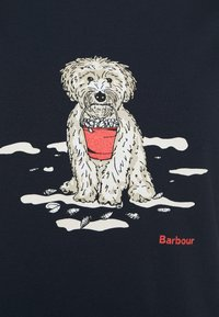 Barbour - BEACH DOG TEE - Print T-shirt - navy