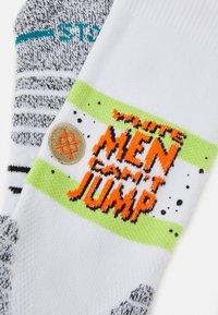 Stance - WHITE MAN CANT JUMP - Sports socks - white - 1