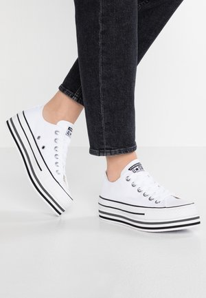 CHUCK TAYLOR ALL STAR PLATFORM LAYER - Baskets basses - white/black/thunder