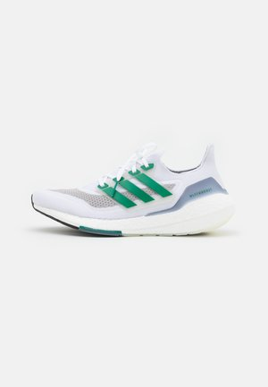 ULTRABOOST 21 - Neutral running shoes - footwear white/sub green/core black