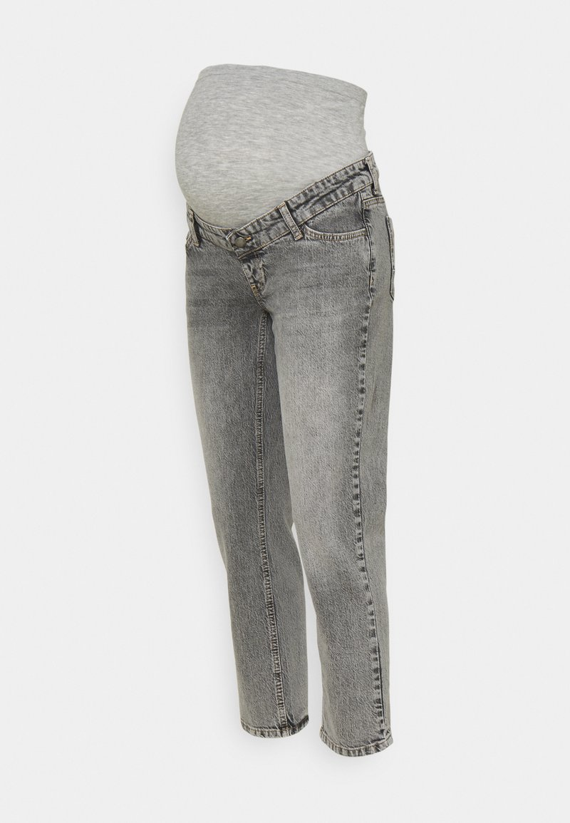 MAMALICIOUS - TOWN CROPPED COMFY - Slim fit jeans - light grey denim
