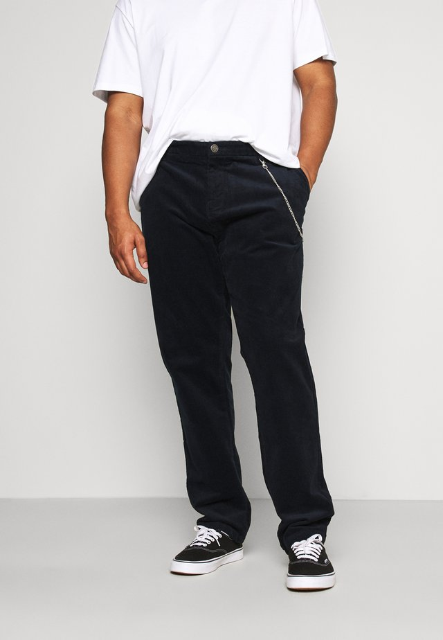 CROPPED PANTS - Kangashousut - navy