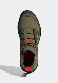 adidas Performance - FREE HIKER BOOST PRIMEKNIT HIKING SHOES - Hikingskor - green - 3