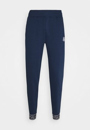 MUSCLE FIT TAPE CUFF JOGGER - Verryttelyhousut - navy