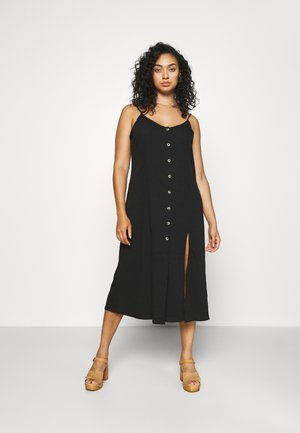 BUTTON THROUGH CAMI MIDI DRESS - Denní šaty - black