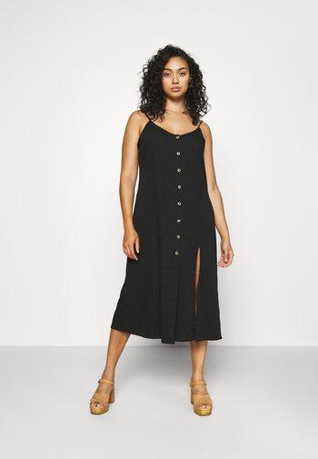 BUTTON THROUGH CAMI MIDI DRESS - Day dress - black