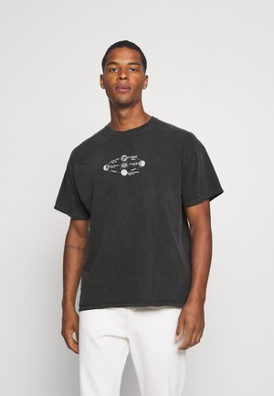 SOLAR SYSTEMS TEE - Print T-shirt - washed black