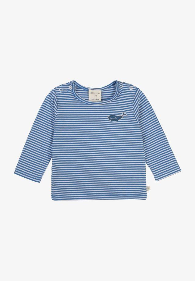 T-shirt à manches longues - blanc bleu