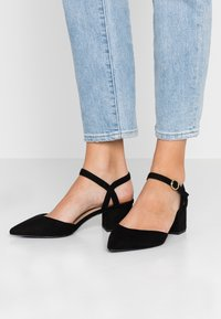 New Look Wide Fit - WIDE FIT SAMIRA - Tacones - black - 0