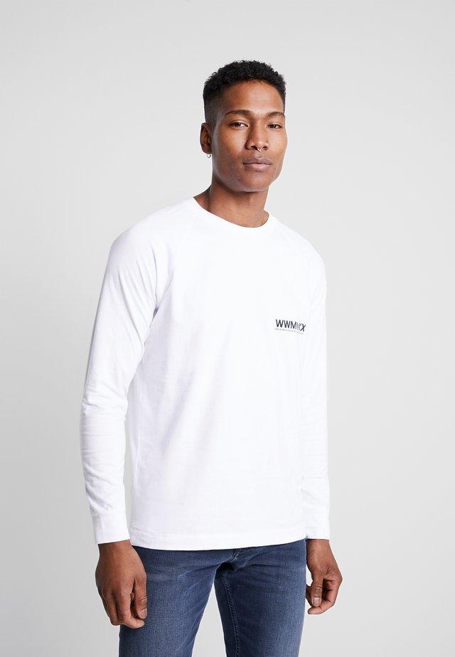 HAN LONG SLEEVE - T-shirt à manches longues - bright white