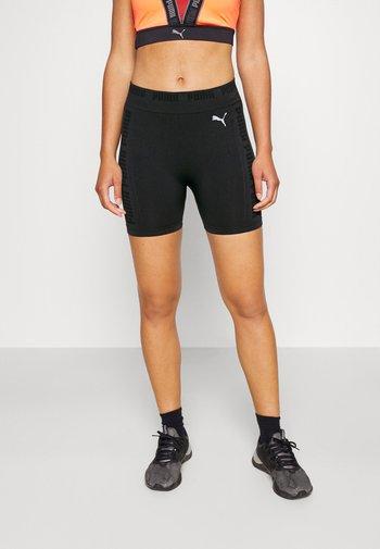 SEAMLESS SHORTS - Legging - black