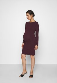 Anna Field MAMA - 2 PACK NURSING DRESS - Žerzejové šaty - grey/bordeaux - 2
