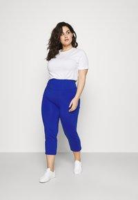 Lauren Ralph Lauren Woman - VARLYN SKINNY PANT - Shorts - sapphire star - 1