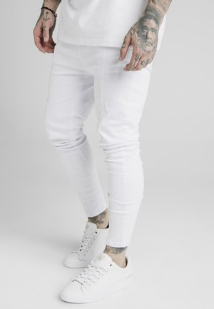 DROP CROTCH PLEATED APPLIQUE  - Skinny džíny - white