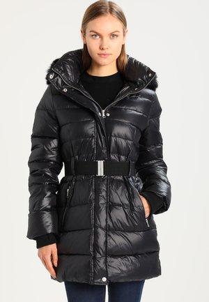 VALERIE BELTED COAT - Down coat - black