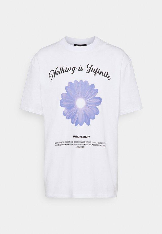 ROGERS TEE UNISEX - Print T-shirt - white