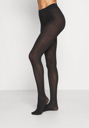 PETRINA HERRINGBONE - Tights - black