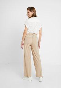 b.young - BYDANTA WIDE LEG PANTS - Kalhoty - beige - 3