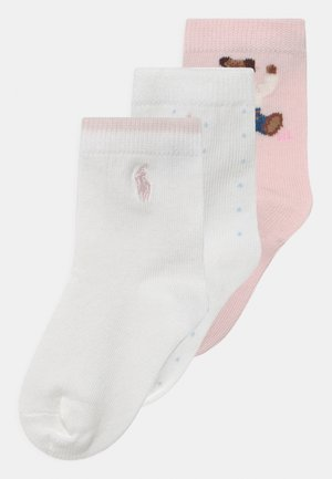 BEAR CREW 3 PACK - Calcetines - pink/white