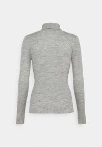 Selected Femme Tall - SLFCOSTINA ROLLNECK - Jumper - light grey melange - 1