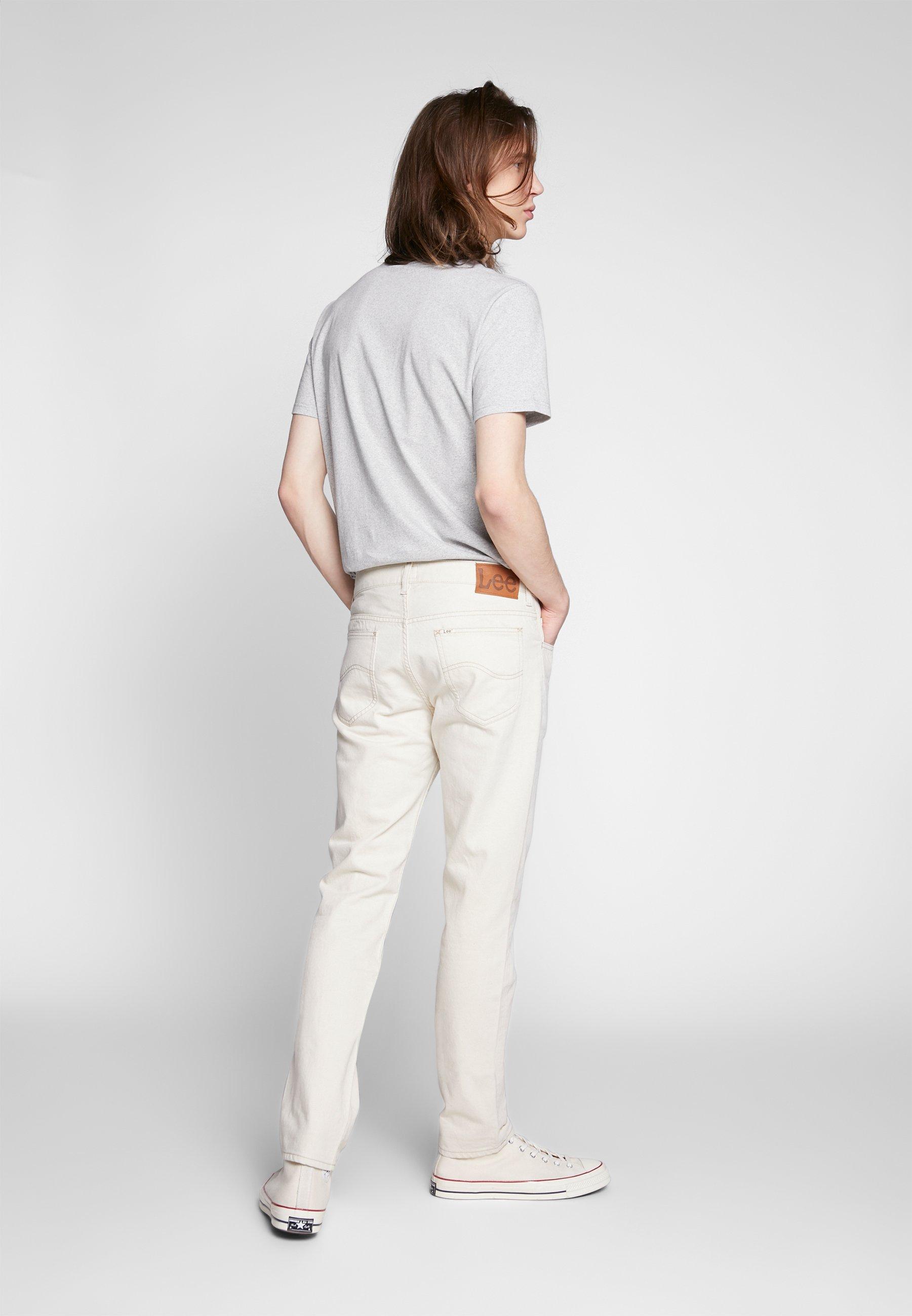 Lee RIDER BUTTON FLY - Jean slim - white denim off-white