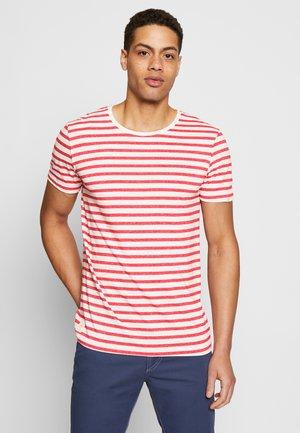 PAUL STRIPE ORGANIC - Print T-shirt - red