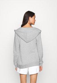 Even&Odd - Regular Fit Zip Sweat Jacket Contrast Cord - Hettejakke - mottled light grey - 2