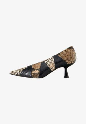 MIT PRINT - Classic heels - black
