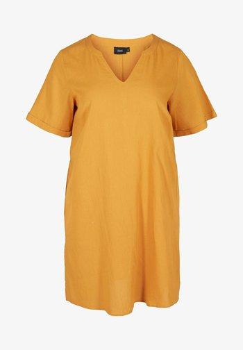 Jersey dress - honey mustard