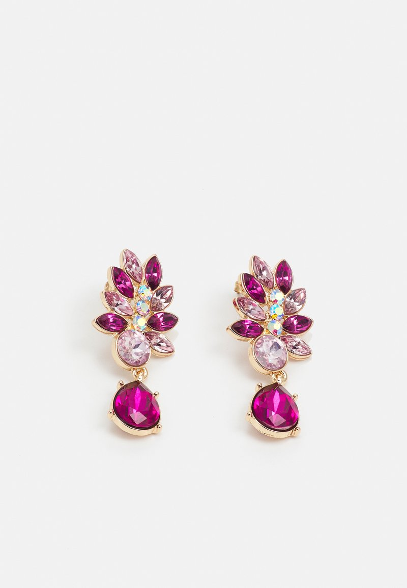 Pieces - PCLARVA EARRINGS - Pendientes - pink/rose/gold-coloured
