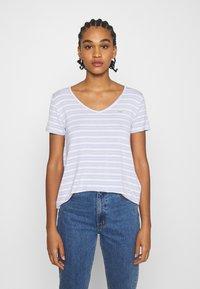Hollister Co. - ICON EASY  - Print T-shirt - white/blue - 0