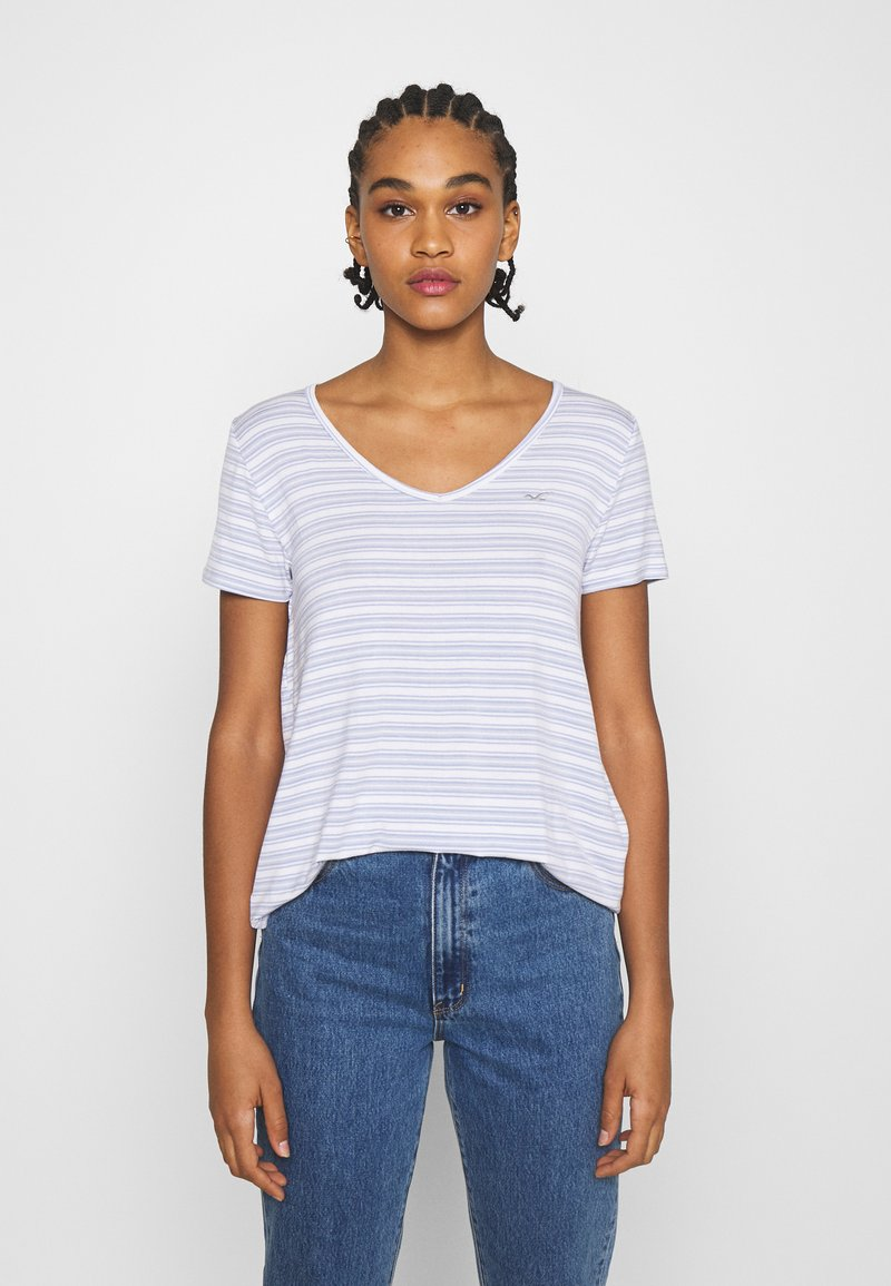 Hollister Co. - ICON EASY  - Print T-shirt - white/blue